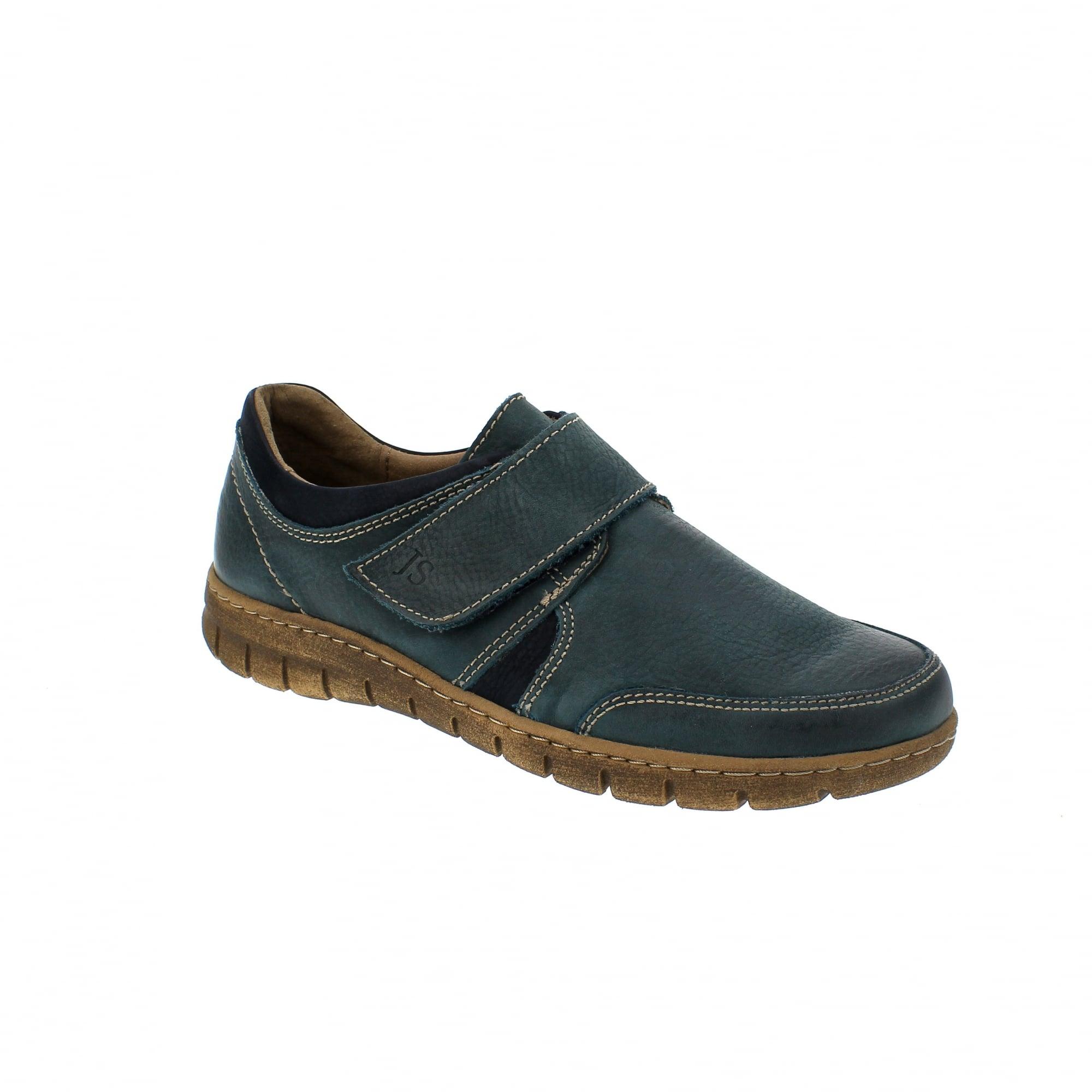 24489c0e Josef Seibel Steffi 33 Teal Womens Velcro Shoes   Rogerson Shoes