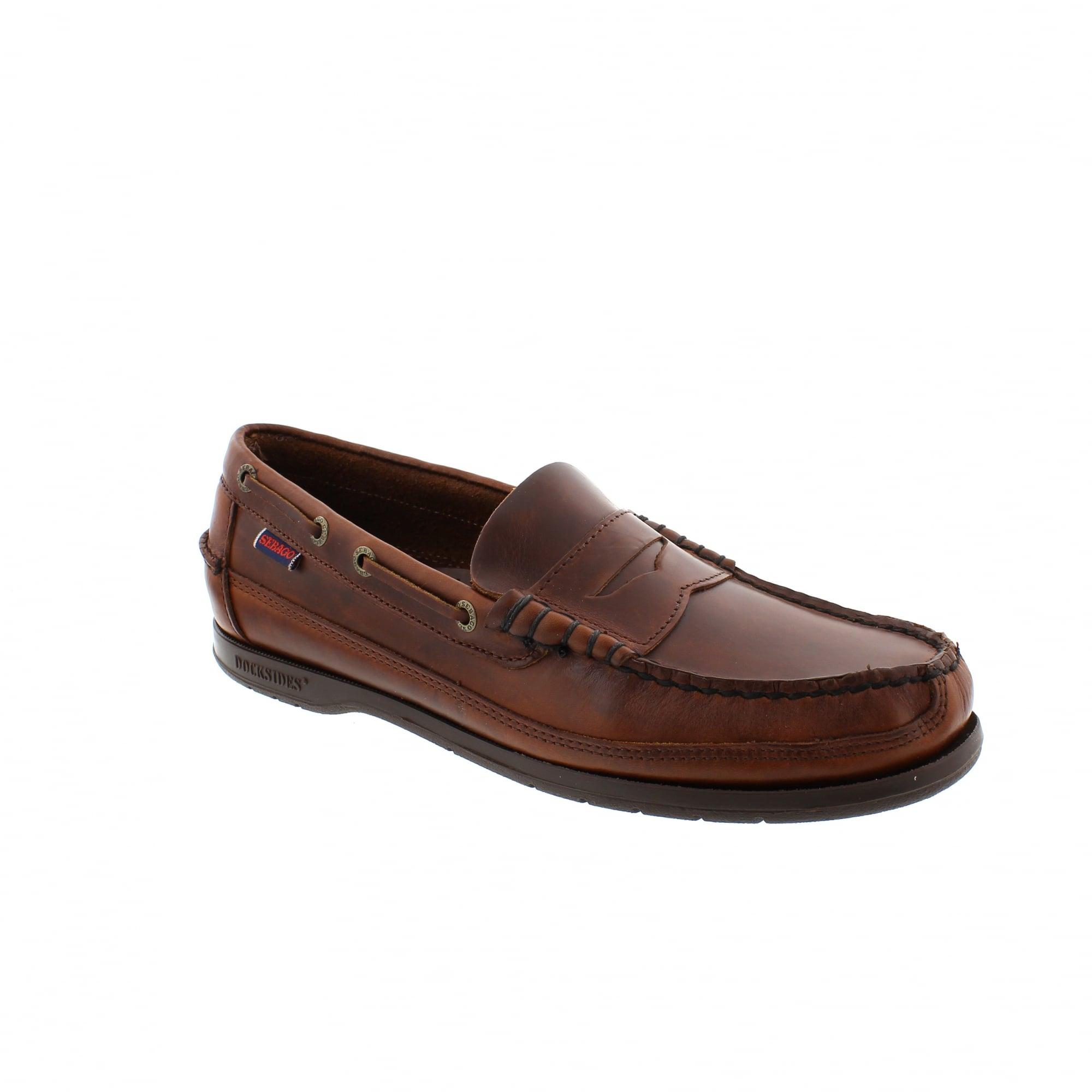 08731329ebe1e Sebago Sloop Boat Shoes Brown Leather Docksides | Rogerson Shoes
