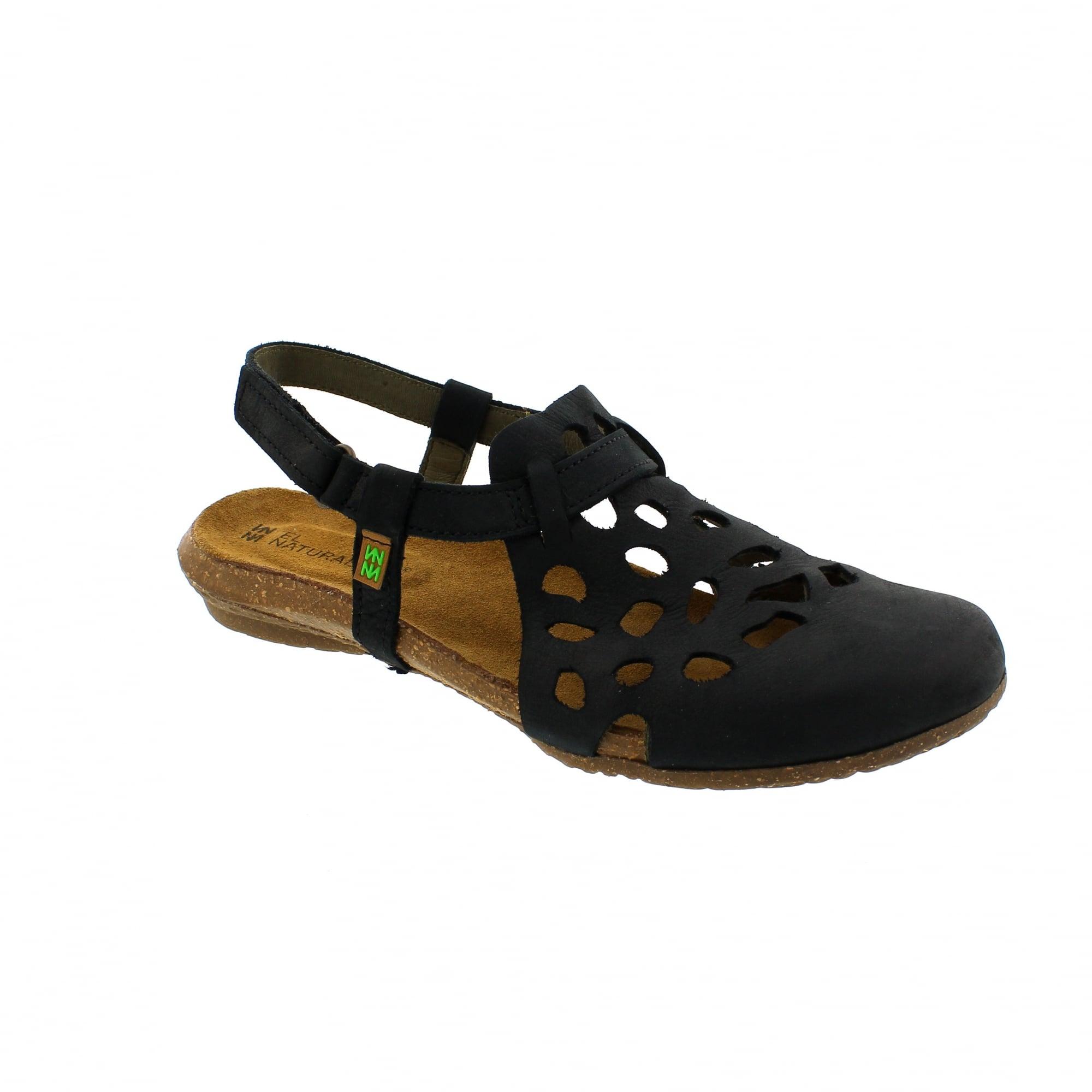 70336050c23b9 El Naturalista Wakataua N5063 Black Womens Sandals