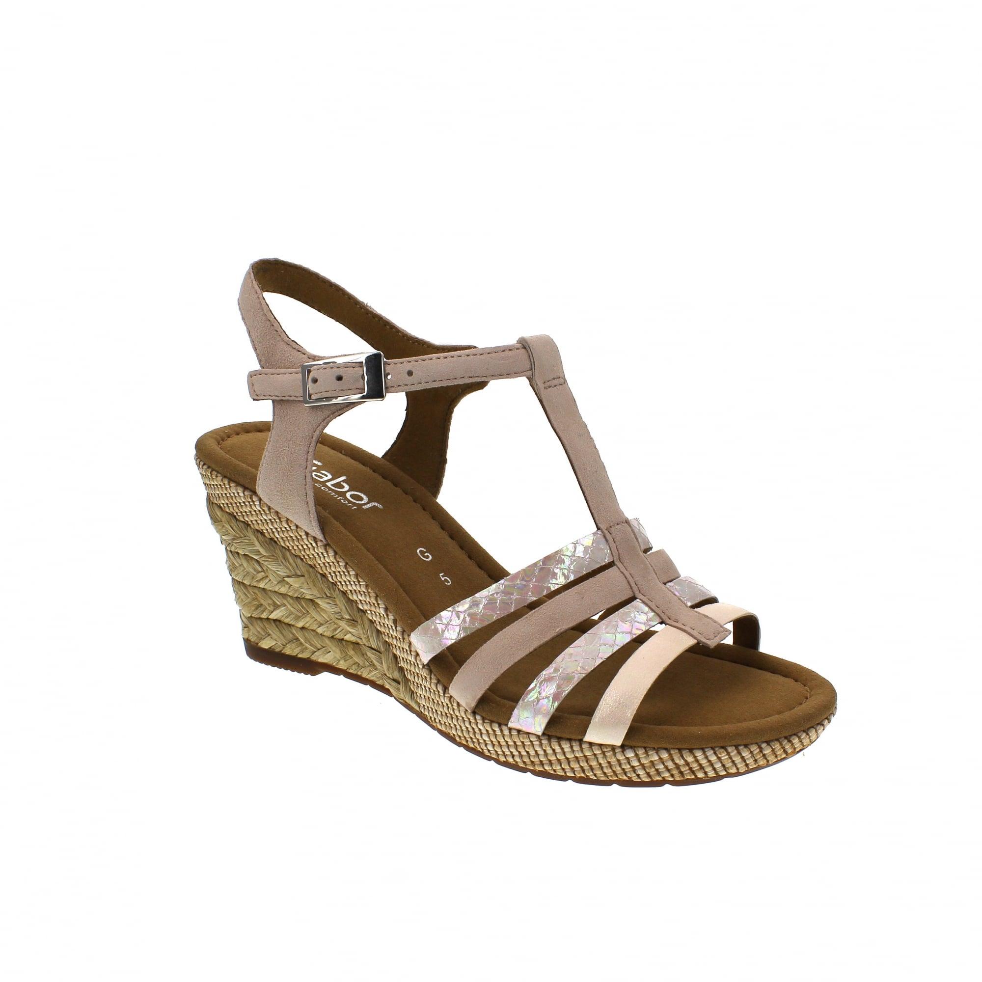 67653fa8bc9e Gabor Jesmond 82-826-12 Rose Suede Womens Sandals