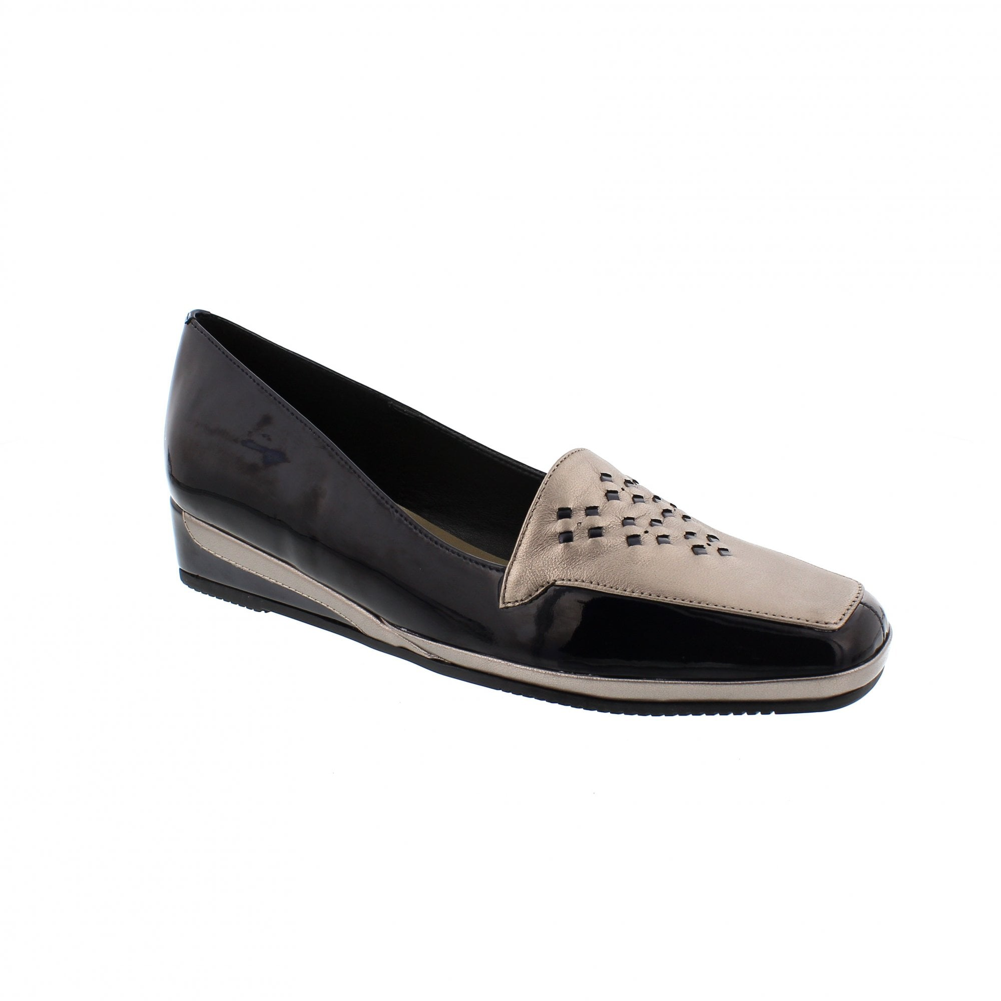 9647b8a797a45 Van Dal Verona II 1298410 Navy/Pewter Slip On Shoes | Rogerson Shoes