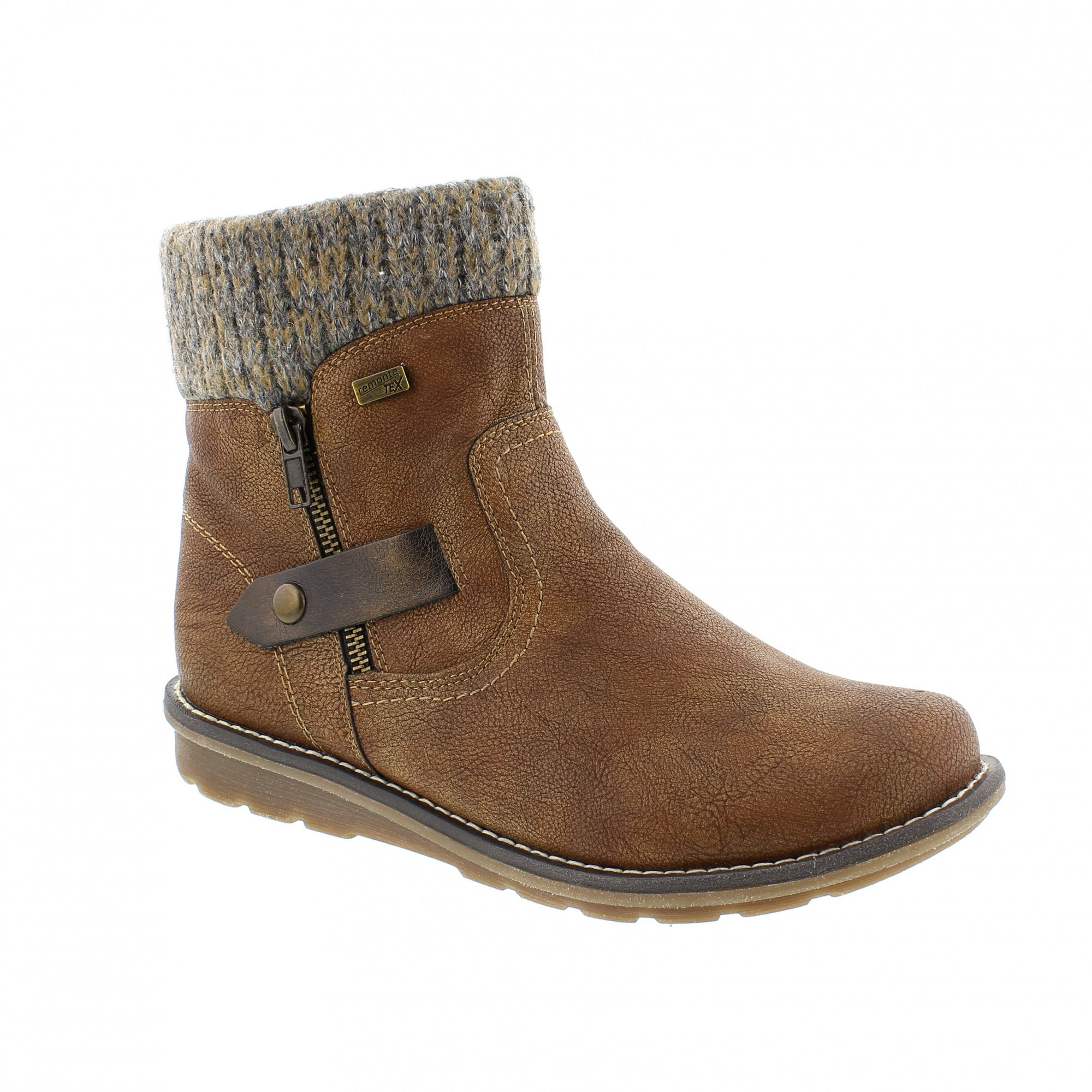 Remonte R1074-25 Tan Womens Ankle Boots