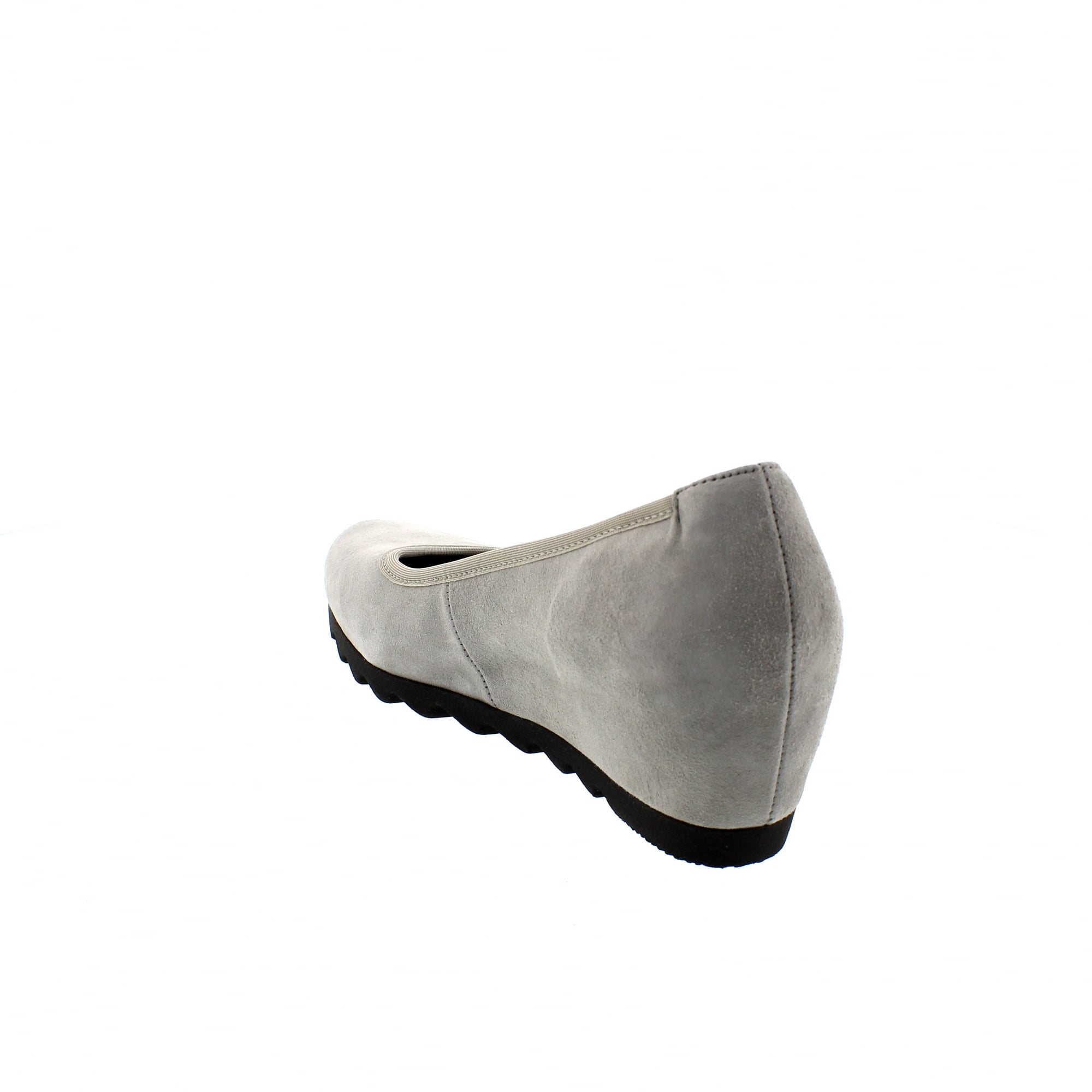 b3ad1a91c4 Gabor Request 85-320-19 Grey Suede Womens Wedge Pumps | Rogerson Shoes