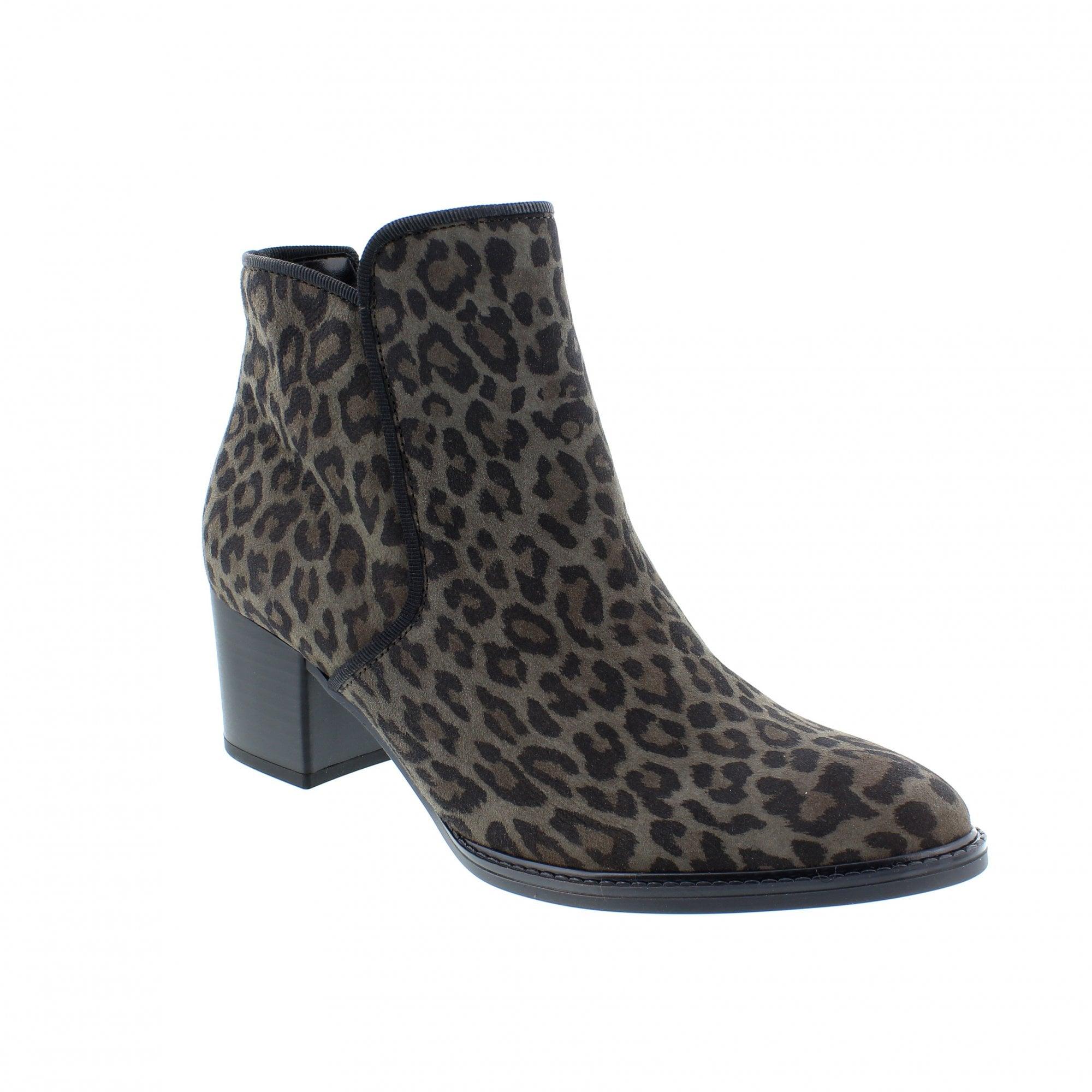 animal print ankle booties