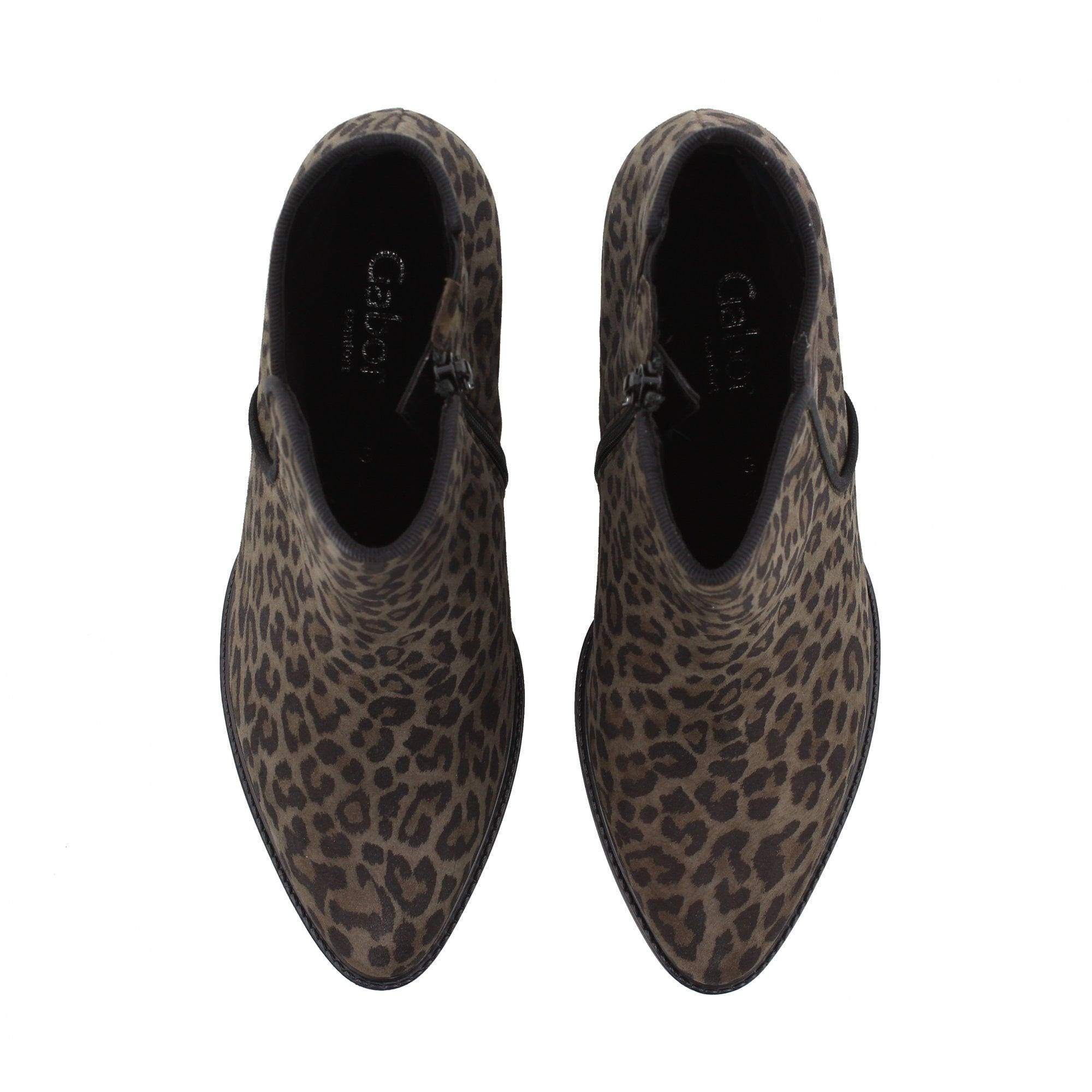 Gabor Robina Grey Leopard Print Ankle