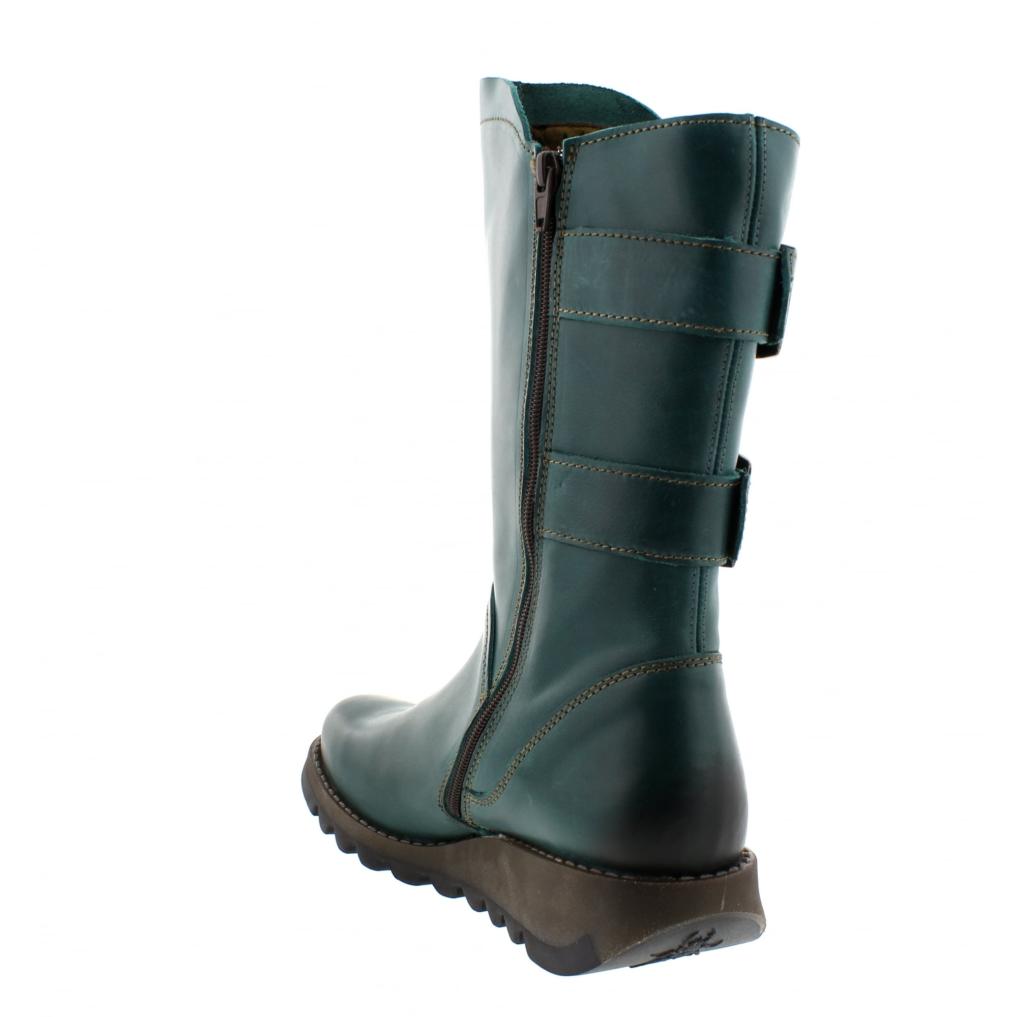 Fly London Sack Mid Calf Boots Teal