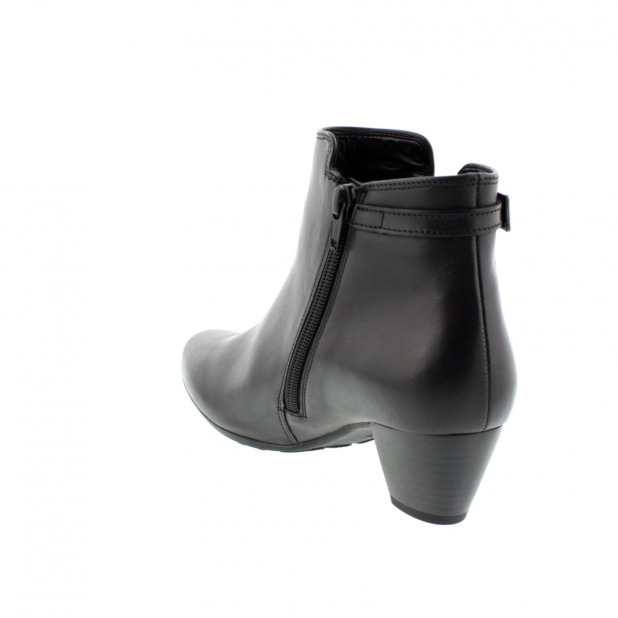 3a39867a1 Gabor Smudge 92-826-57 Black Leather Womens Ankle Boots | Rogerson Shoes