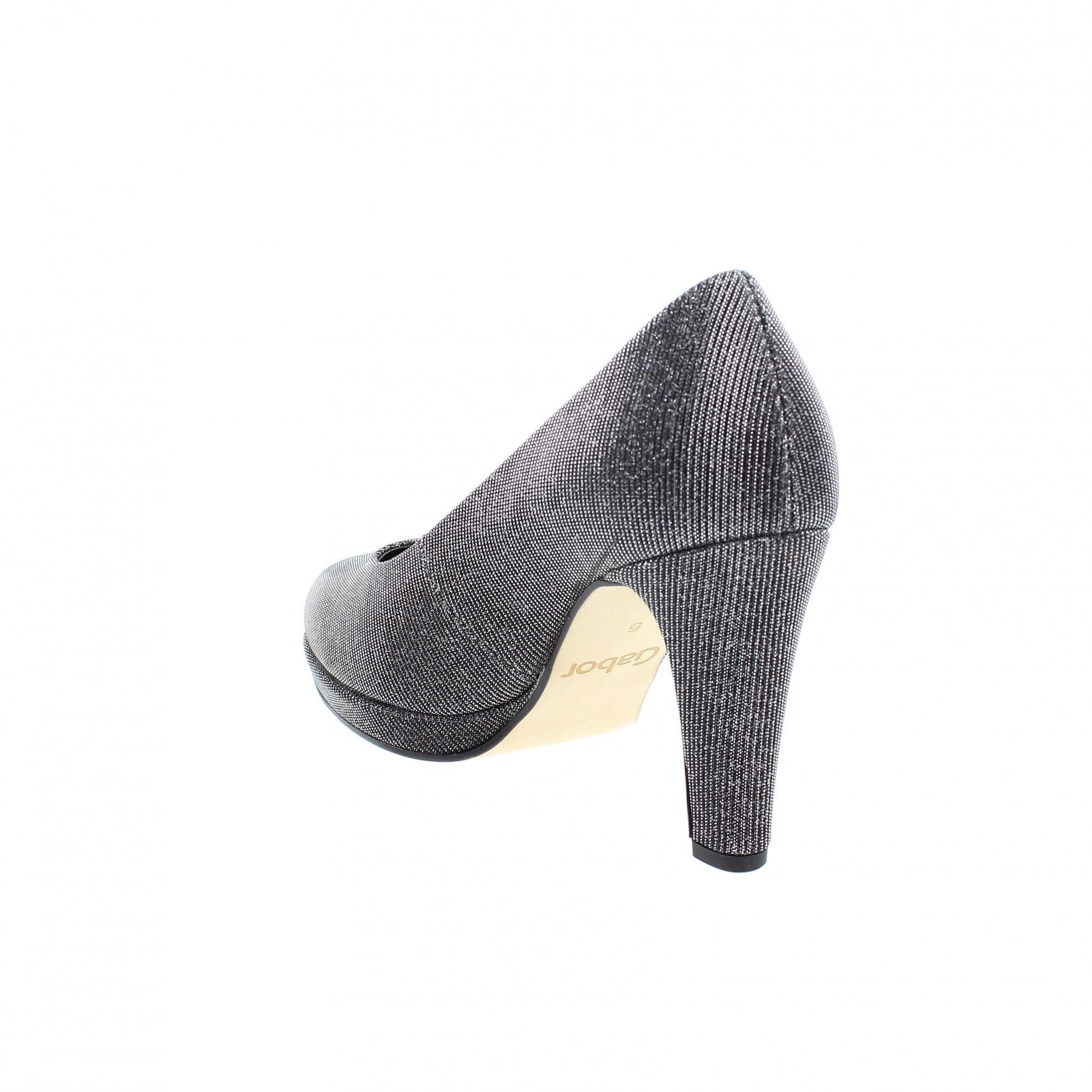 21dfcf909 Gabor Splendid 91-270-69 Pewter/Silver Court Shoes   Rogerson Shoes