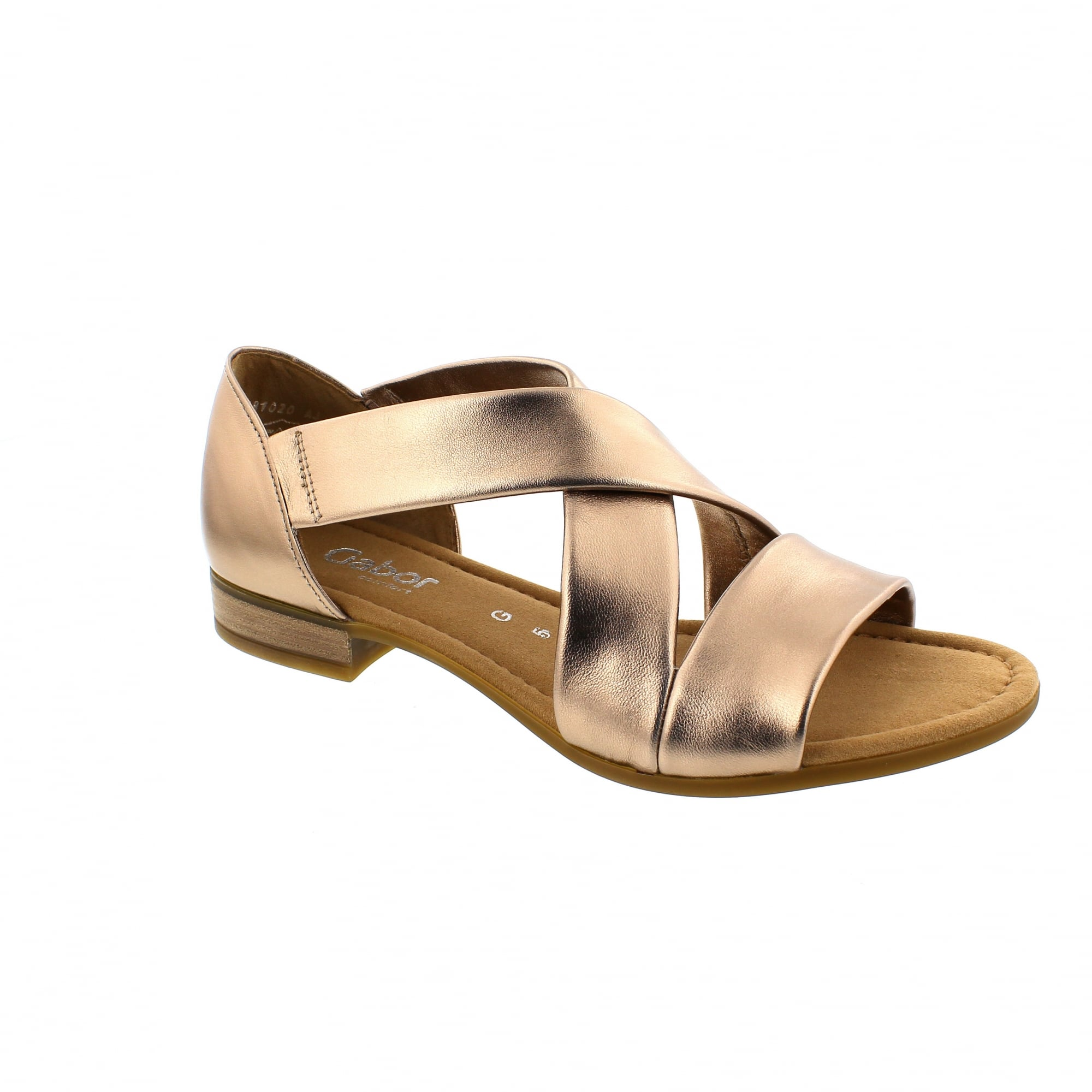3970a5373cc Gabor Sweetly 82-761-94 Pewter Leather Womens Sandals
