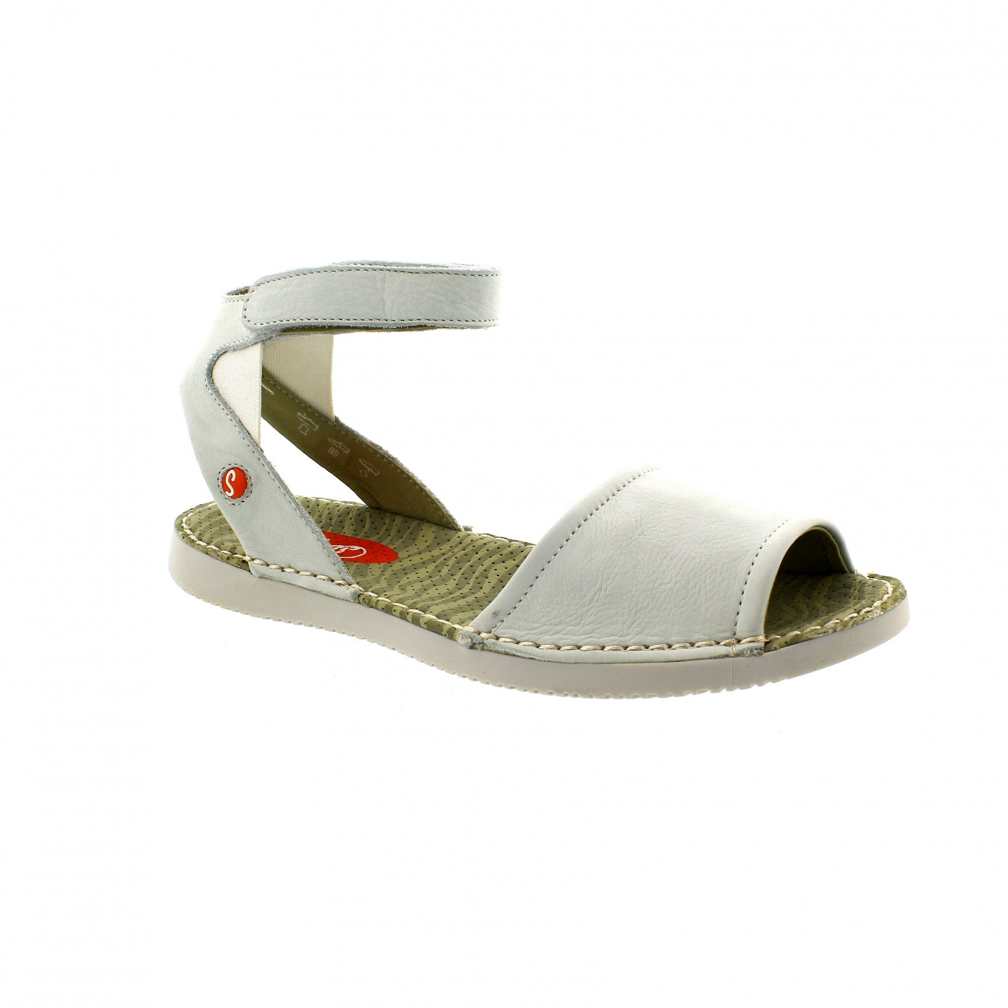 Softinos Tia 900385-002 White Leather Womens Sandals  87fc7ce44