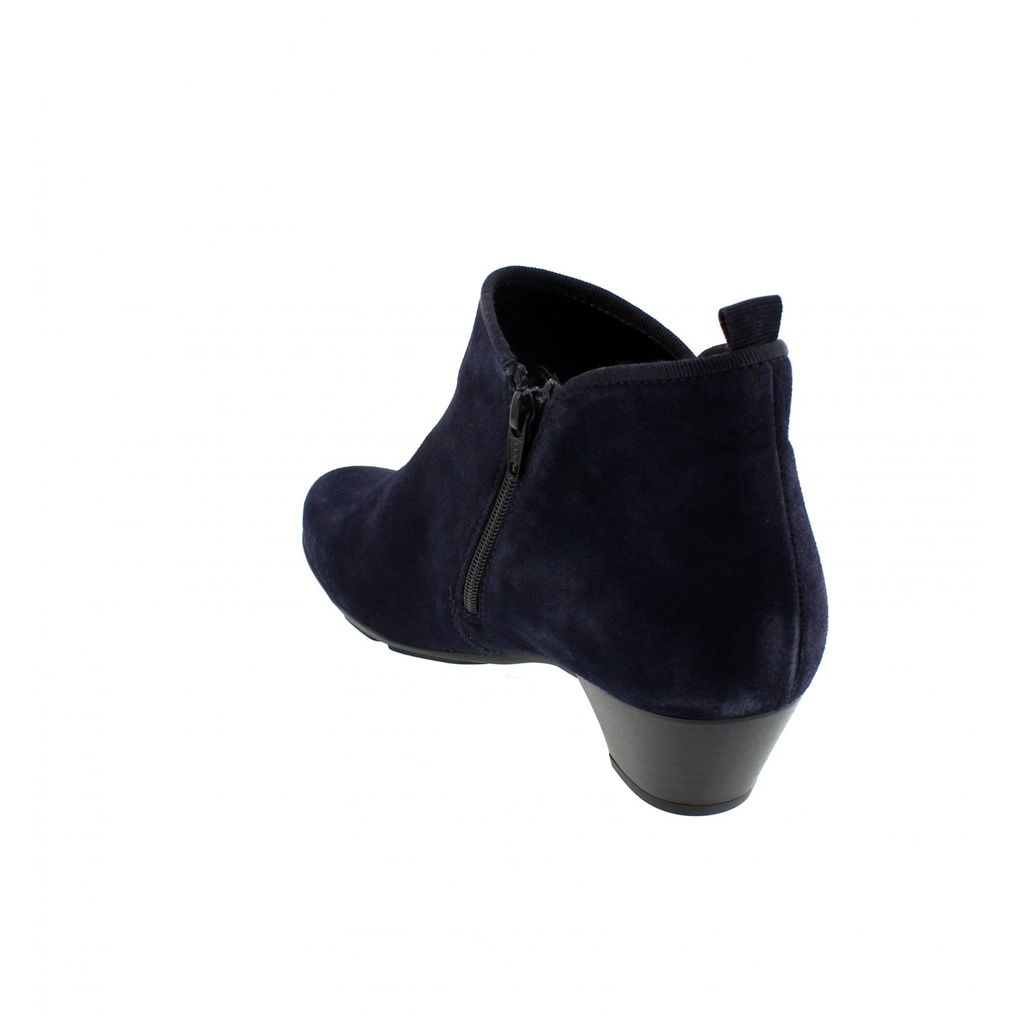 c54db6b4afe1 Gabor Trudy 95-633-16 Navy Suede Womens Ankle Boots