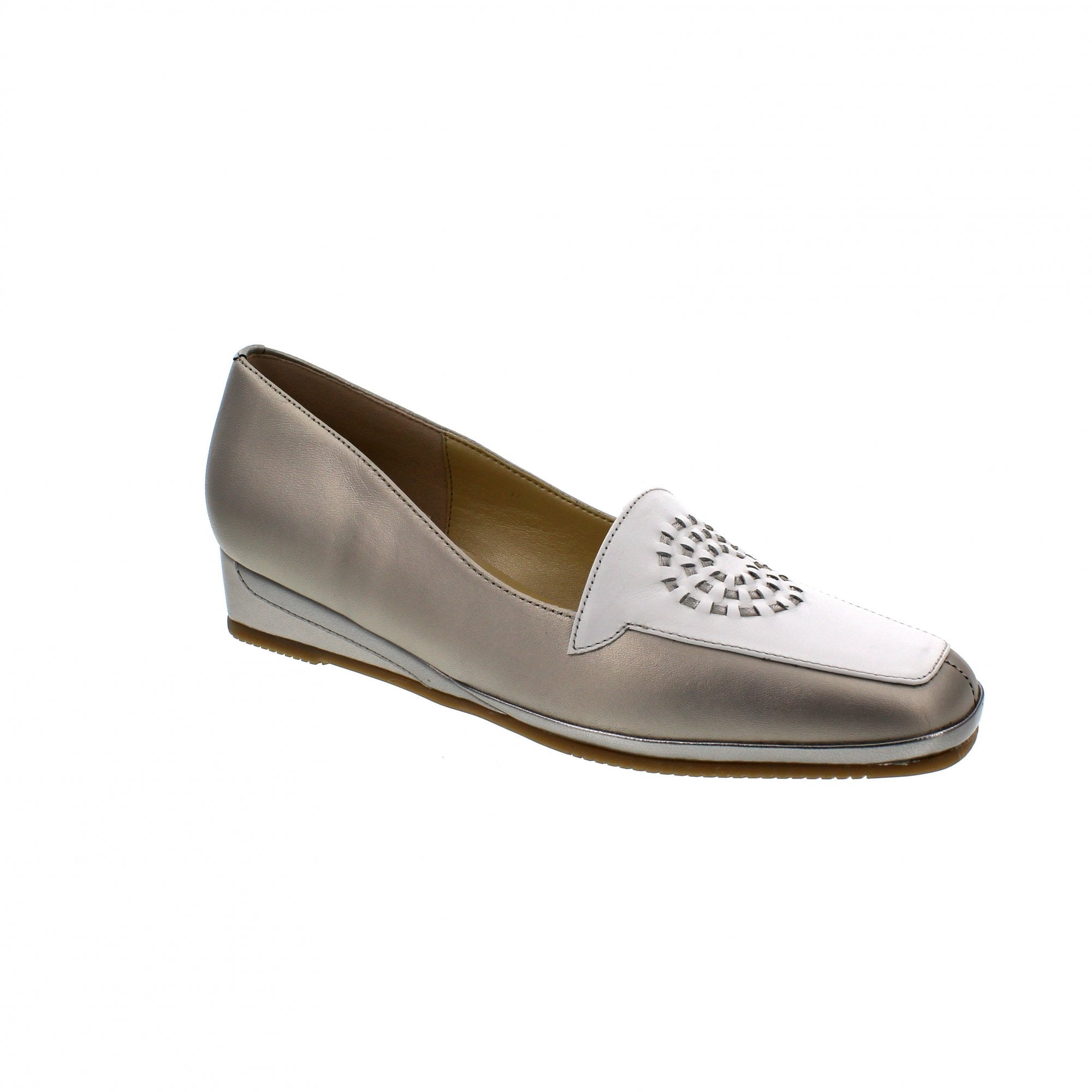 17bfbd0ce0591 Van Dal Verona 0567820 Taupe/White Slip On Shoes | Rogerson Shoes