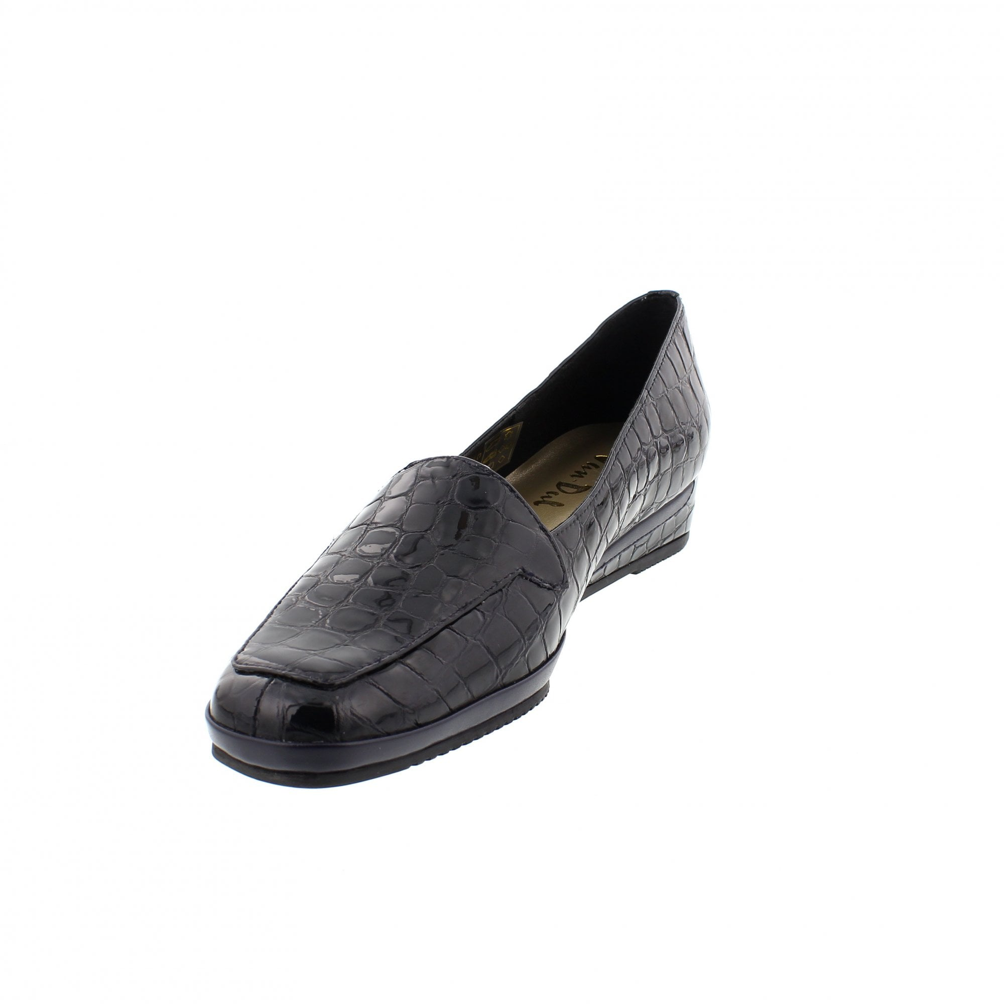 cfe80d1dfbaf0 Van Dal Verona III 1299440 Navy Patent Slip On Shoes | Rogerson Shoes