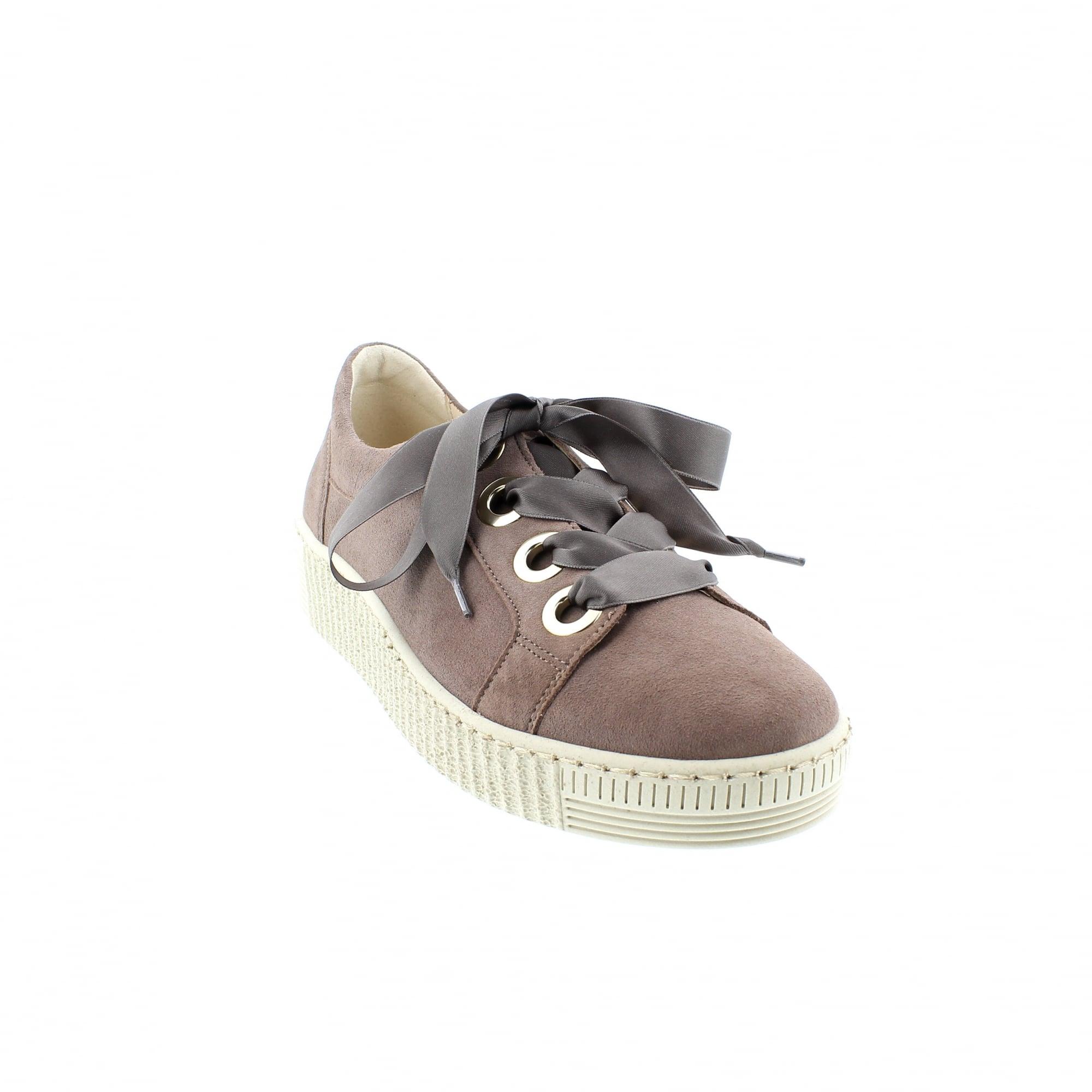 Gabor WIDE FIT Trainers dust Plain Sports Shoes Woen's Suede