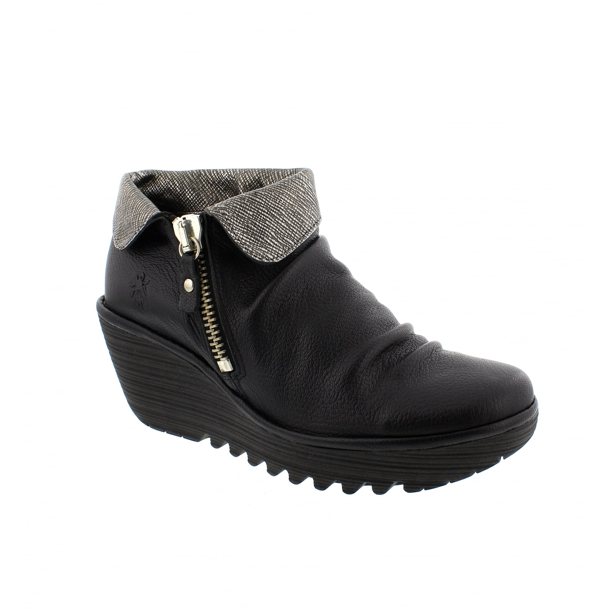 7b031cdd6a5 Fly London Yoxi 500755-004 Womens Ankle Boots