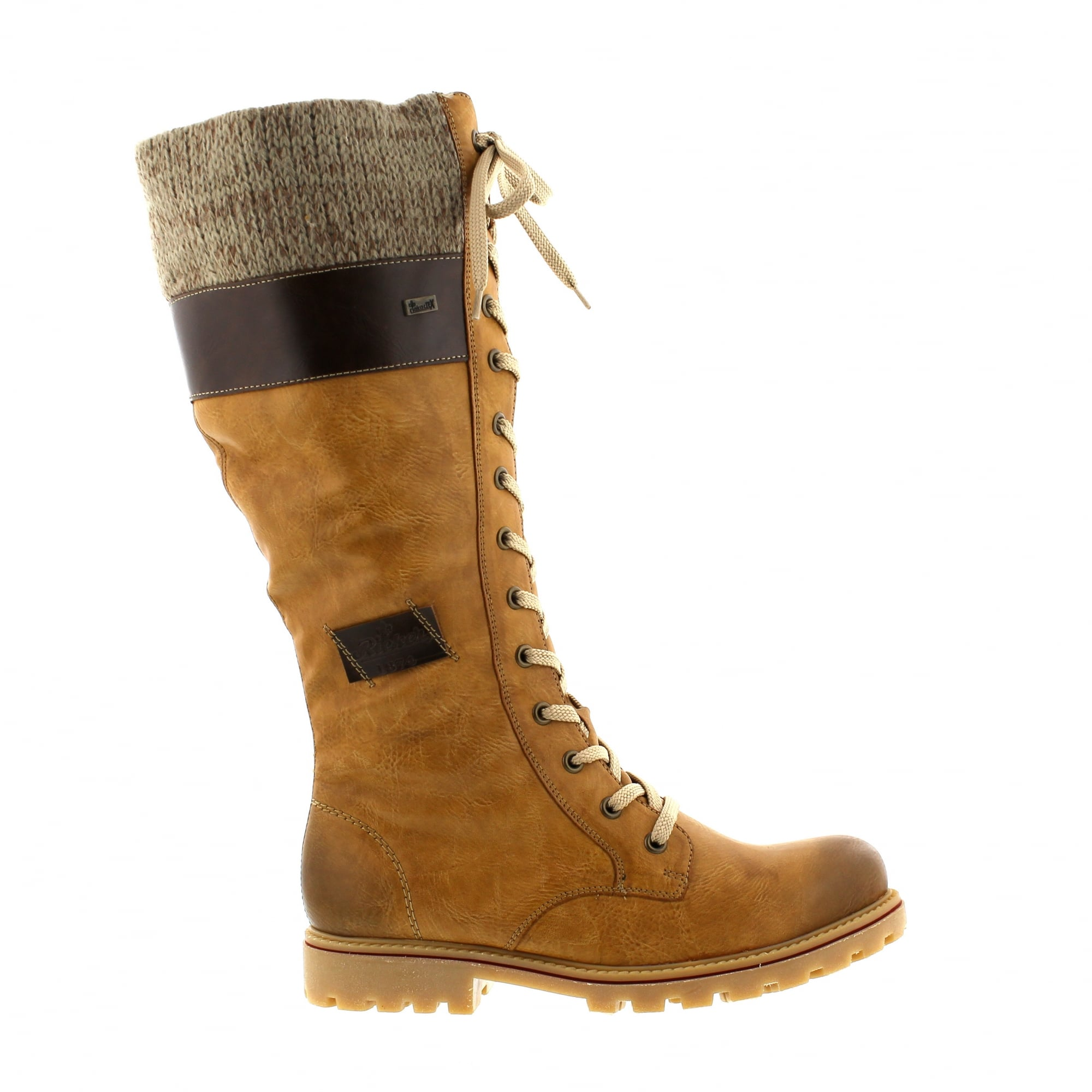 9ae7518af Rieker Z1442-24 Tan/Taupe Womens Knee High Boots | Rogerson Shoes