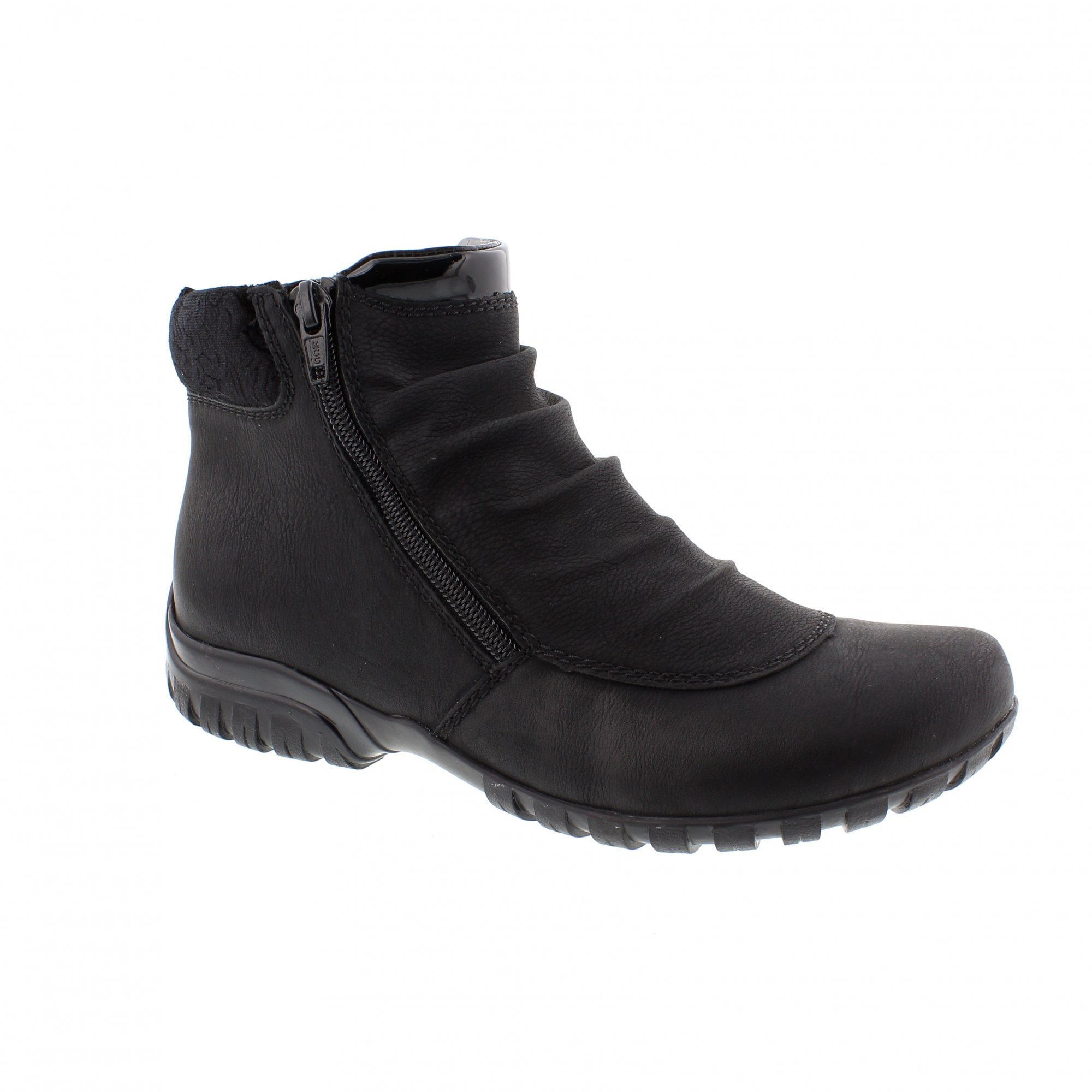423bb7a6073 Rieker Z4671-00 Black Womens Ankle Boots | Rogerson Shoes
