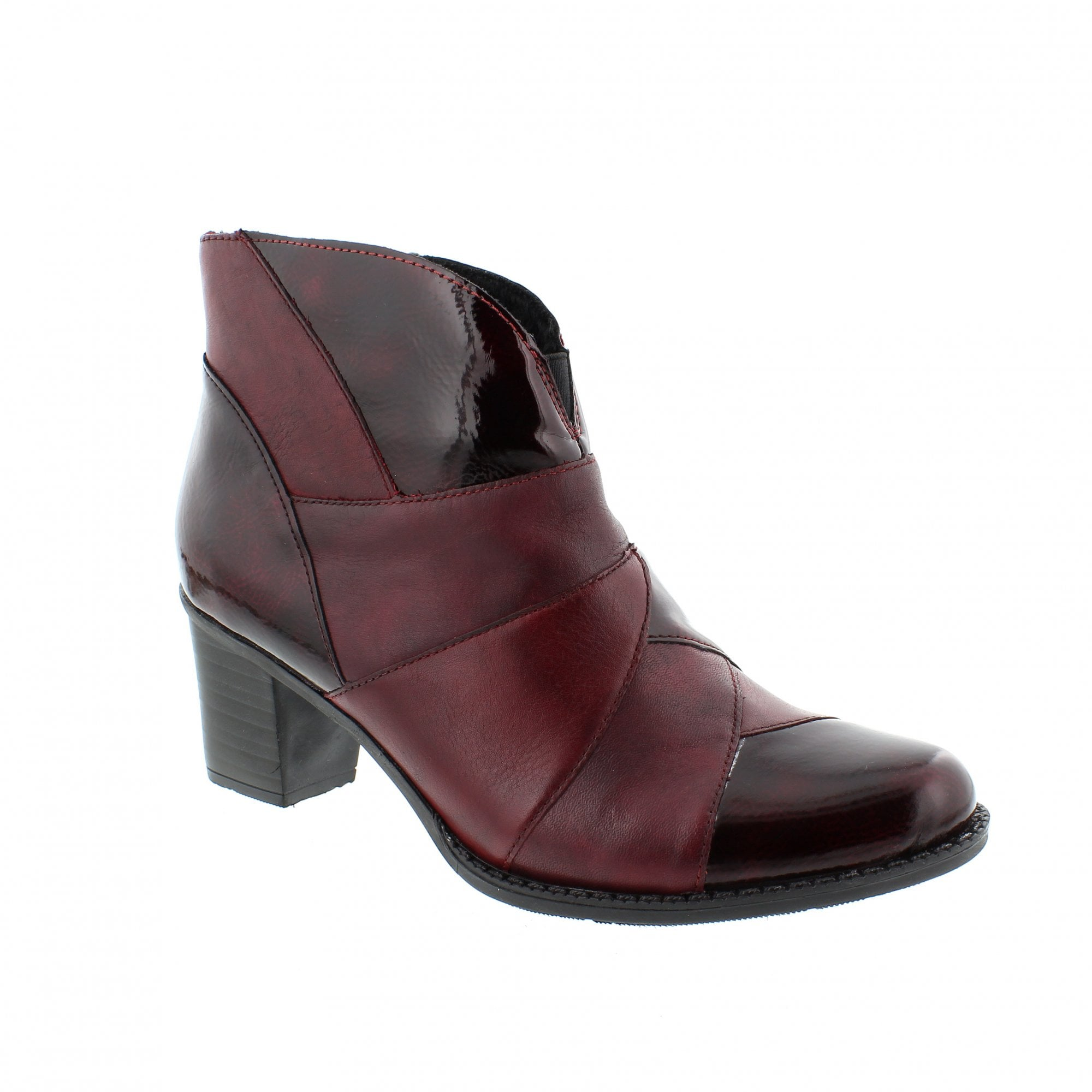 6a8f9318c4 Rieker Z7676-35 Burgundy/Red Womens Ankle Boots | Rogerson Shoes
